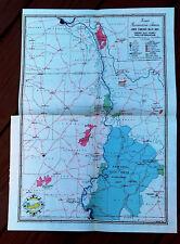 1937 Color Map Lower TVA Ft Donalson, Ohio River, Pickwick Lake,Dam, Shiloh Park