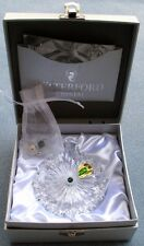 "WATERFORD Crystal 2012 Snowflake Wishes ""COURAGE"" Christmas Ornament 2nd Ed NIB"