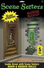2 Haunted Hallway Giant Halloween Scene Setters Party Decoration - New & Sealed