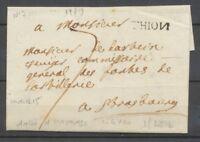 1779 Lettre Lenain N°3 THION (N à l'envers) MOSELLE(55). Superbe X1719