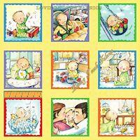 "15 BLOCKS ELIZABETH'S STUDIO ""MY BABIE'S DAY"" 1827 BABY FABRIC PER PANEL 23""X44"""