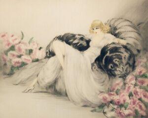Louis Icart Elegant Lady Print 11 x 14