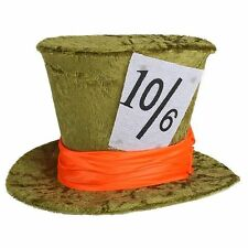 Mini Green Mad Hatter Top Hat Fancy Dress Costume Accessory Tea Party