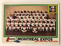 1981 Topps Checklist Montreal Expos  Team Dick Williams  #680