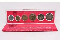 Coins of israel - Official Mint set 1971 mint marked