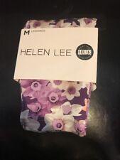 HUE Daffodil Multi Scuba Leggings- Size Medium (8-10)  Purple - Helen Lee