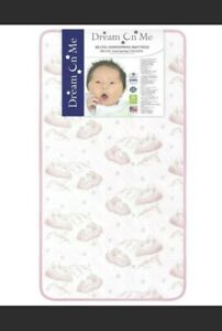 """6"""" Standard Crib & Toddler Bed Mattress Dream On Me Twinkle Pink Clouds For Girl"""