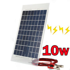 10W 12V Solar Panels Module Battery Charger Boat For Camping Outdoor + 4m Cable