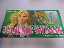 Vintage 1976 Parker Brothers Bionic Woman Board Game parts pieces