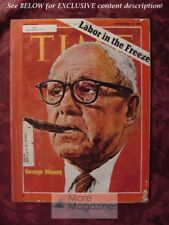 TIME magazine September 6 1971 Sept Sep 9/6/71 GEORGE MEANY LABOR PRICE FREEZE
