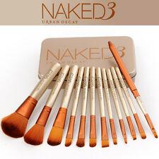 NAKED3 Eyeshadow Brushes Set Powder Foundation Lip Make Up Brush Tool 12Pcs