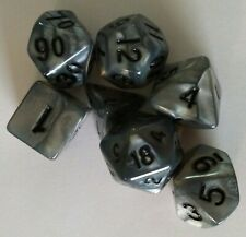 WIZ DICE QUICK SILVER POLYHEDRAL 7 DICE SET