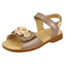 Sandales marron avec attache auto-agrippant pour fille de 2 à 16 ans