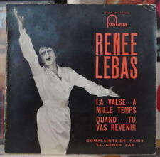 RENEE LEBAS/JACQUES BREL LA VALSE A MILLE TEMPS FRENCH EP FONTANA 1959