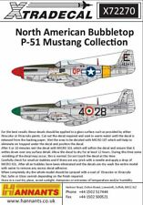 XTRADECAL 1/72 North-American P - P-51D Mustang bubbletops #72270