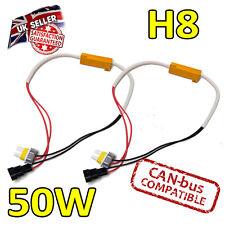 2 x h8 50w LED Errore cancelers 6ohm LED Fog Lights-Errore sicuro Free-CANBUS