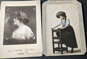 "1900s Alma Youlin ""Coming Thro' Rye"" Goddess Liberty Oversized Mounted Photos (2"