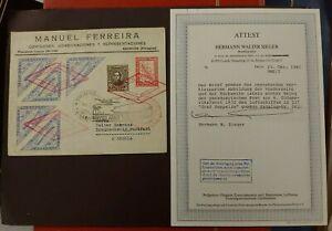 1932 GRAF ZEPPELIN COMPLETE COVER PARAGUAY CERTIFICATE B388.37 START 0.99$