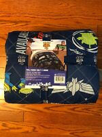 New Toy Story 4 Full/Queen Quilt and Shams Set Boys Girls Bedding Blue Disney