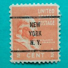 Vintage US 1/2 Cent Benjamin Franklin Stamp New York N.Y.