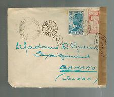 1940 Abidjan  Ivory Coast Airmail Censored cover to Bamako