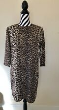 Womens Size 10 Leopard/Animal Print Brown Patterned ASOS Shift Dress RRP £60