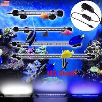 New Aquarium Fish Tank LED Light Submersible Waterproof Bar Strip Lamp US Plug