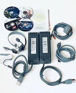 XBOX 360 Lot Power Bricks AV Cord Headset Wifi Extender Halo Grand Theft IV