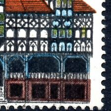 1975 Sg 976var 7p Architectural Heritage Brown Colour Shift to Right Fine Used