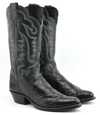 WOMENS JUSTIN BELLY ALLIGATOR WESTERN COWBOY BOOTS SIZE 8.5 D WIDE BLACK 4664