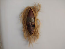 Old Hand Crafted African Wood Mask Wall Hanging Decoration