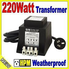 HPM 12V 220W Garden Light Transformer IP56 over load protection