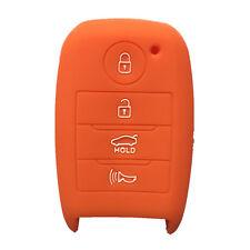 Orange Silicone Key Cover Case Holder Chain Bag fit for Kia Smart 3 Button Key