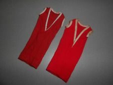Vintage Barbie Clone Tressy Doll Dress Lot of 2 Red Sheath Htf w/ Hong Kong Tag