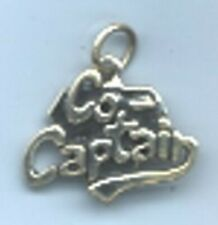 Sterling Silver Cheerleader Co-Captain Charm with Ring for Bracelet