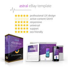 Szablon aukcji eBay Responsywny, bez Active Content, Uniwersalny, SEO + Edytor