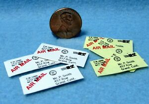 Dollhouse Miniature Mail Set Addressed and Stamped 6 Letters  IM65204