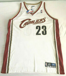 NEW Size 48 Authentic 2003 Reebok Cavaliers Lebron James ROOKIE game jersey