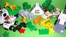 LEGO Duplo Zoo- Safari,Großer Traktor,Safari Haus,Transporter-LKW,Krokodil,Löwe,