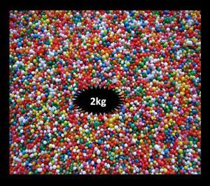 HUNDREDS & THOUSANDS 2KG 100S & 1000S CAKE DECORATING 100'S & 1000'S SPRINKLES