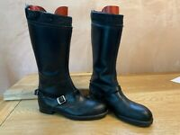 VINTAGE 70's 9002 MOTORCYCLE BOOTS SIZE 6 MADE IN ENGLAND SHEEPSKIN LINED