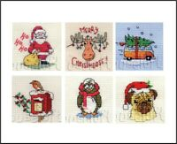 Mouseloft Stitchlets Counted Cross Stitch Kits Christmas with card and envelope