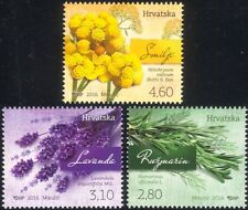 Croatia 2016 Lavender/Rosemary/Curry Plant/Plants/Flowers/Nature 3v set (n44794)