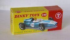 Repro box DINKY Nº 240 Cooper racing car