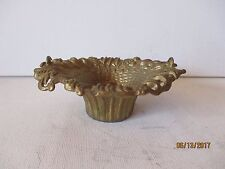 """Vintage Brass Heavy Basket Dish/Candle Holder - 5 X 31/2 X 1/1/2"""" -Free Shipping"""