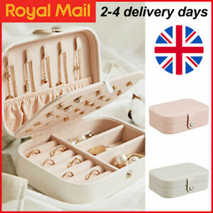 Portable Jewellery Box Organizer Travel Boxes Jewelry Ornaments Storage Case UK