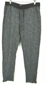 Hollister Juniors Large Pull On 1/4 Zip Ankle Sweats Drawstring Waist Stretch