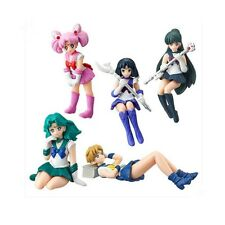 5pcs Set Sailor Moon Desktop Figure 2 Gashapon Uranus Neptune Pluto Saturn Chibi