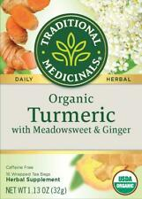 TEA TURMERIC w/ MEADOWSWEET & GINGER Traditional Medicinals (16 bags x 5 boxes)