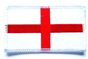 EMBROIDERED ENGLAND FLAG PATCH sew on GB cotton cloth badge UK St George